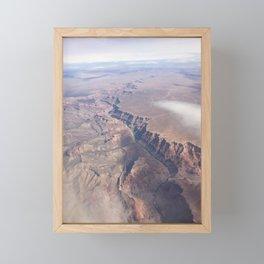 Flying over the Grand Canyon Framed Mini Art Print
