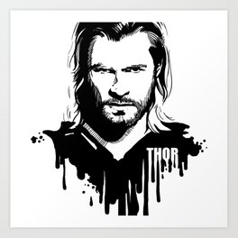 Fandom In Ink » Thor Art Print