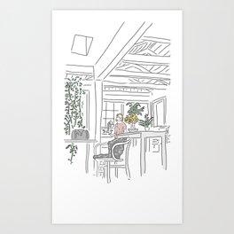 Jane's Kitchen Art Print