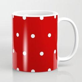 Red and White Polka Dots Pattern Coffee Mug