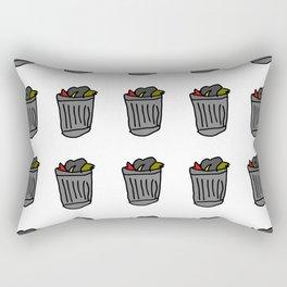 Trash Cans Rectangular Pillow