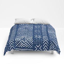 Line Mud Cloth // Dark Blue Comforters