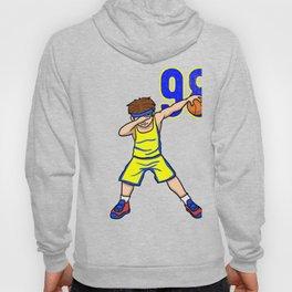 Cool Yellow Blue Basketball Team Number 98 Basketball Player BBall Athlete Baller League Tournament Hoody