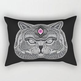 The All Seeing Cat Rectangular Pillow
