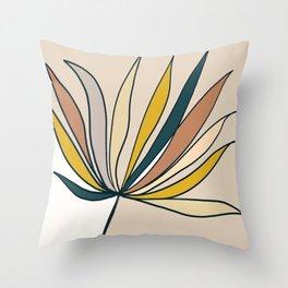 Minimal Floral #5 - Modern Art Print Throw Pillow