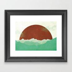 Sunset Valley Framed Art Print