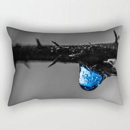Ice Blue Rectangular Pillow