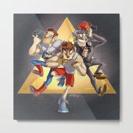 Triple Stan! Metal Print