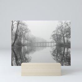 Spring Lake Bridge in the Fog Mini Art Print