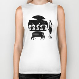 WOODCHOPPING WOMAN Biker Tank