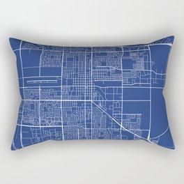 Oxnard Map, USA - Blue Rectangular Pillow