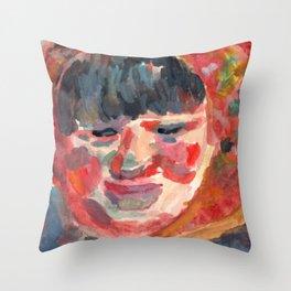 A Village Woman Throw Pillow