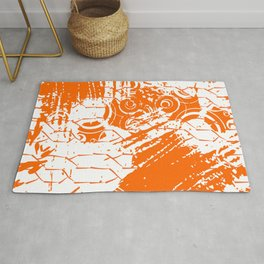 Abstract Orange Grungy Background  Rug