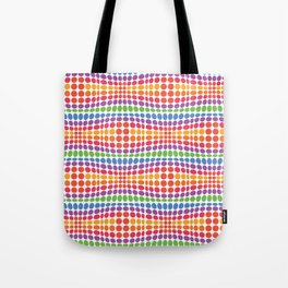 Dottywave - Rainbow wave dots pattern Tote Bag