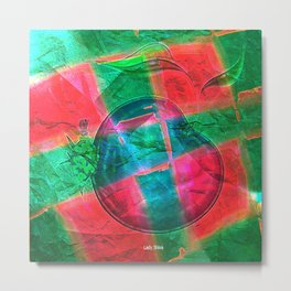 """ Every apple is a flower which knew love. "" Metal Print"