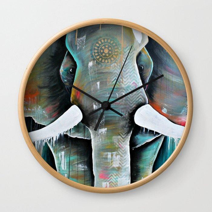 Boris in colour Wall Clock