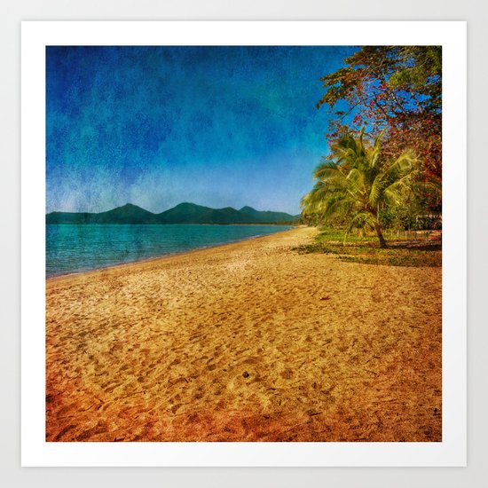 restful beach view Art Print