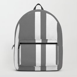 Mixed Vertical Stripes - White and Gray Backpack