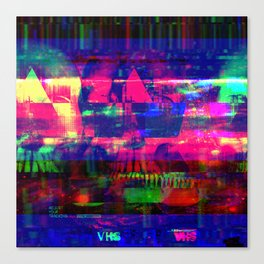 Broken VCR Canvas Print