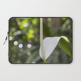 White Anthurium Lily Laptop Sleeve