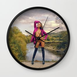 Pink IV Wall Clock
