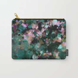 Contemporary Abstract Wall Art in Green / Teal Color Carry-All Pouch