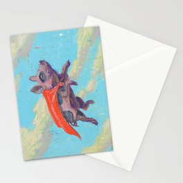 flying pig - by phil art guy Stationery Cards