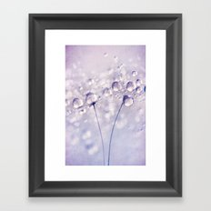 Pretty Pastel Purple Sparkles Framed Art Print