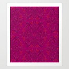 Magenta & Pink Flaming Flower Kunstdrucke
