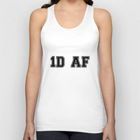 1d Tank Tops featuring 1D AF by SaladInTheWind