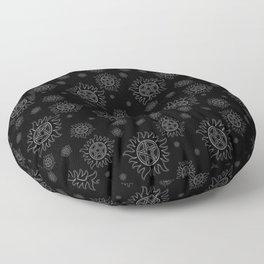 Anti Possession Pattern White Glow Floor Pillow