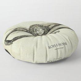 KOH-I-NOOR (mountian of light) Floor Pillow