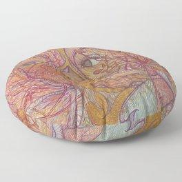 lady lotus Floor Pillow