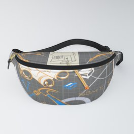 Architects + Builders Tools Pattern Fanny Pack