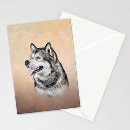 Dog Alaskan Malamute Stationery Cards