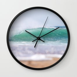 Sea Glass Waves Wall Clock