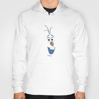 olaf Hoodies featuring Olaf (Frozen) by George Hatzis