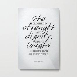 She: Typography Metal Print