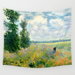 "Claude Monet ""Poppy Field, Argenteuil"" Wall Tapestry"