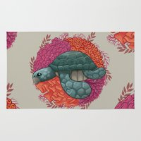 turtle Area & Throw Rugs featuring Turtle by ErDavid