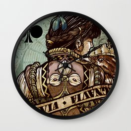 Queen of Clubs - Ignavia - From Requiem Playing Cards Wall Clock