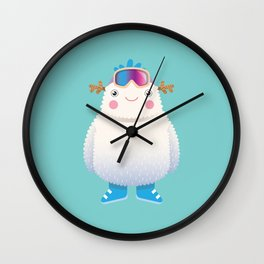 Cute Yeti Wall Clock