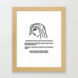 Women's fate Framed Art Print