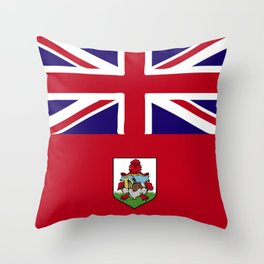 Bermuda flag emblem Throw Pillow