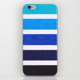 Colorful Blue Stripe Pattern iPhone Skin