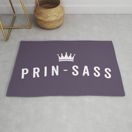 Prin-Sass Funny Cute Quote Rug