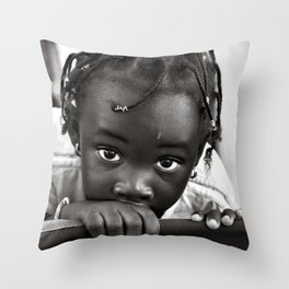 LOOKING INTO MY INNOCENT EYES Throw Pillow
