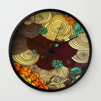 earth Wall Clocks featuring Earth by DuckyB