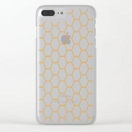 Honeycomb Orange #271 Clear iPhone Case