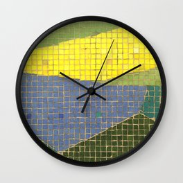 Downtown Fresno/ Fulton Mall/ Mosaic Bench 01 Wall Clock